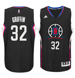 Men's Los Angeles Clippers Blake Griffin adidas Black New Swingman Alternate Jersey