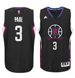 Men's Los Angeles Clippers Chris Paul adidas Black New Swingman Alternate Jersey