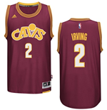 Men's Cleveland Cavaliers Kyrie Irving adidas Wine Hardwood Classic Swingman Jersey