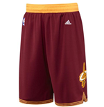 adidas Cleveland Cavaliers Wine Red Swingman Short