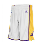 adidas Los Angeles Lakers New Swingman White Shorts