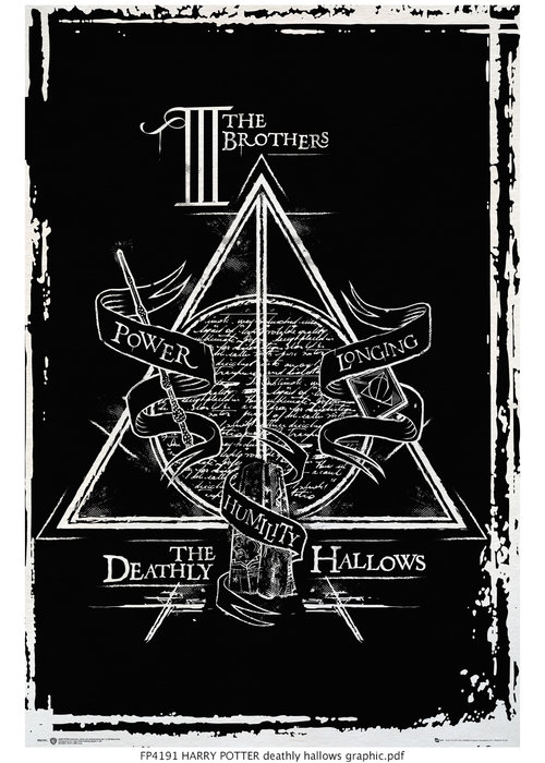 Harry Potter Deathly Hallows Graphic Maxi Poster