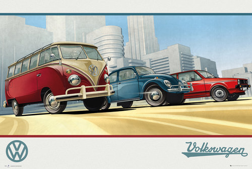 Volkswagen Illustration Maxi Poster