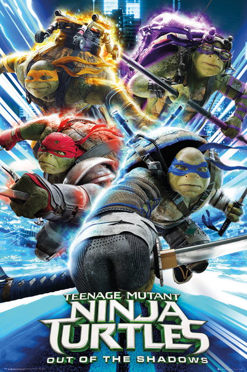 Teenage Mutant Ninja Turtles 2 Group Maxi Poster