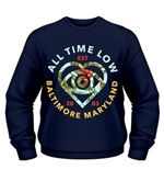 All Time Low Sweatshirt Vacation Heart