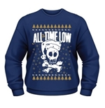 All Time Low Sweatshirt Christmas Skull