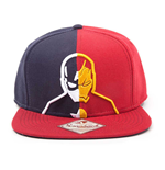 MARVEL COMICS Captain America: Civil War Unisex Captain America vs. Iron Man Silhouette Snapback Baseball Cap, One Size, Blue/Red