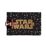 STAR WARS Gold Main Logo in Space Door Mat, Black