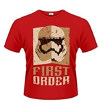Star Wars The Force Awakens T-shirt Stormtrooper First ORDER...