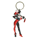 HARLEY QUINN Character Rubber Keychain