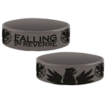 Falling In Reverse Silicon Wrist Band Eagle Grey