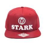 MARVEL COMICS Iron Man Unisex Tony Stark 3D Logo Snapback Baseball Cap, One Size, Red