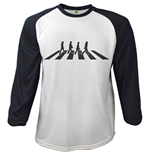 Beatles Longsleeved T-shirt - Raglan Abbey Road Crossing