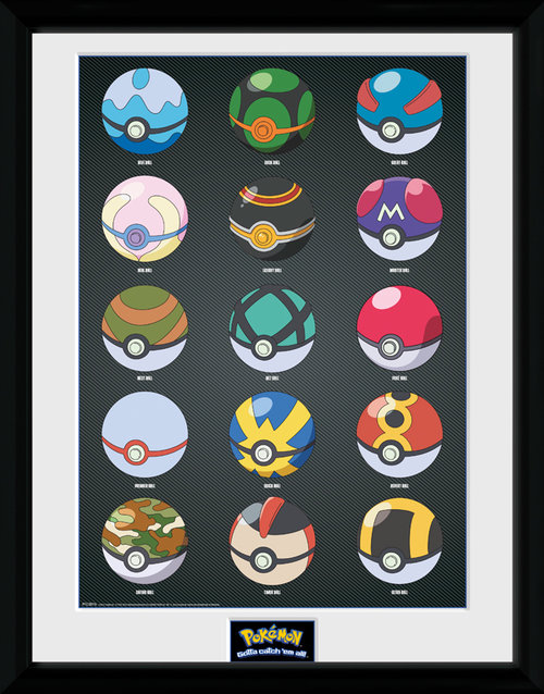 Pokemon Pokeballs Framed Collector Print
