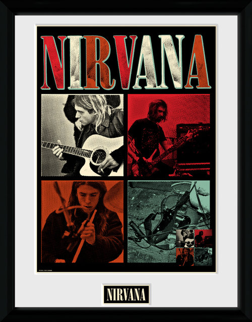Nirvana Squares Framed Collector Print