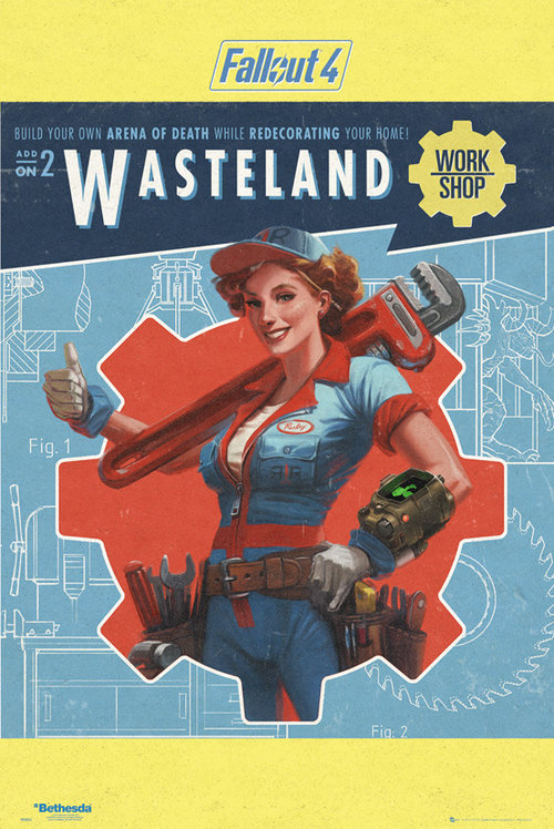 Fallout 4 Wasteland Maxi Poster