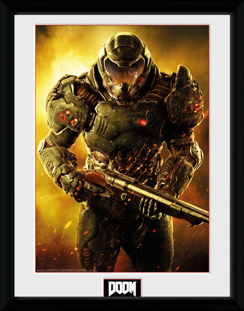 Doom Marine Framed Collector Print