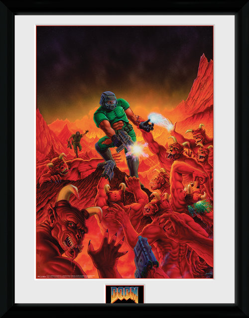 Doom Classic Key Art Framed Collector Print