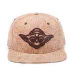 STAR WARS Unisex Embroidered Yoda Silhouette Snapback Baseball Cap, One Size, Tan/Cork