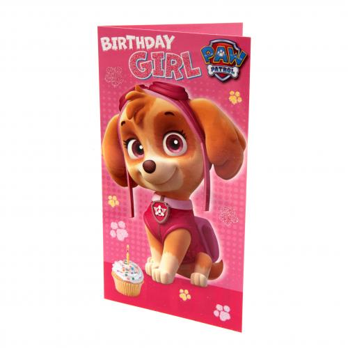 Paw Patrol Birthday Card Girl