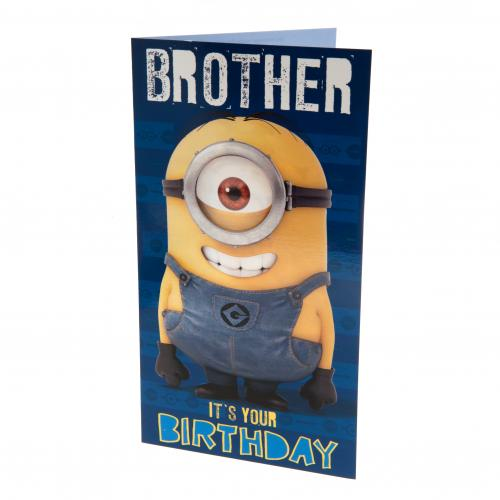 Despicable Me Minion Birthday Card Brother