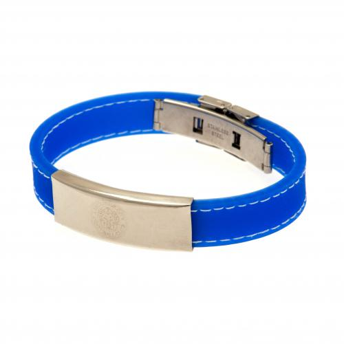 Leicester City F.C. Stitched Silicone Bracelet BL