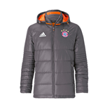 2016-2017 Bayern Munich Adidas Padded Jacket (Granite)