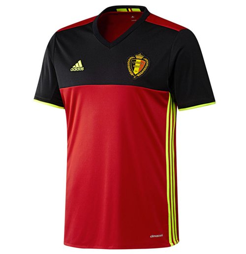 2016-2017 Belgium Home Adidas Football Shirt (Kids)