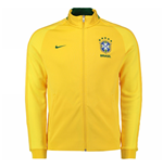 2016-2017 Brazil Nike Authentic N98 Track Jacket (Yellow)