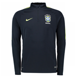 2016-2017 Brazil Nike Drill Top (Black)