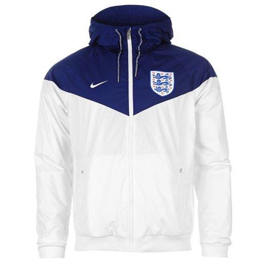 2016 2017 England Nike Authentic Windrunner Jacket (White Royal)