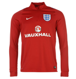 2016-2017 England Nike Training Drill Top (Red) - Kids