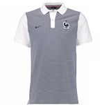 2016-2017 France Nike Authentic GS Slim Polo Shirt (White)