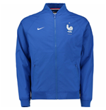 2016-2017 France Nike Authentic Varsity Jacket (Royal Blue)