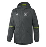 2016-2017 Germany Adidas Rainjacket (Grey)