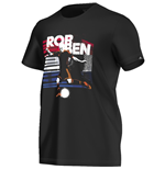 2016-2017 Holland Adidas Arjen Robben T-Shirt (Black)