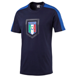 2016-2017 Italy Puma Fanwear Badge Tee (Peacot)