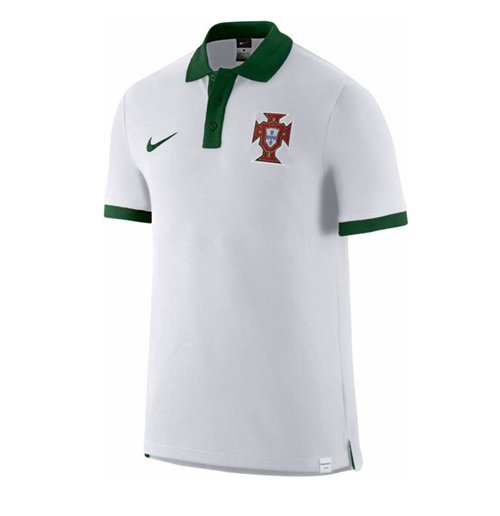 Buy Official 2016-2017 Portugal Nike Core Polo Shirt (White) d714e4fe676c