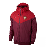 2016-2017 Portugal Nike Authentic Windrunner Jacket (Red)