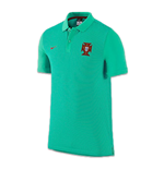 2016-2017 Portugal Nike Authentic Polo Shirt (Emerald)