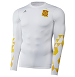 2016-2017 Spain Adidas Techfit LS Shirt (White)