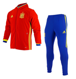 2016-2017 Spain Adidas Presentation Tracksuit (Red) - Kids
