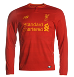 2016-2017 Liverpool Home Long Sleeve Shirt (Kids)