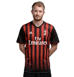 2016-2017 AC Milan Adidas Home Football Shirt