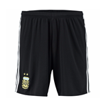 2016-2017 Argentina Home Adidas Football Shorts (Black)