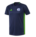 2016-2017 Schalke Adidas Training Shirt (Dark Blue)