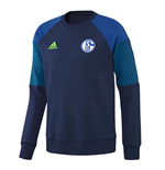 2016-2017 Schalke Adidas Sweat Top (Dark Blue)