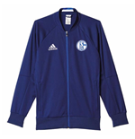 2016-2017 Schalke Adidas Anthem Jacket (Blue)