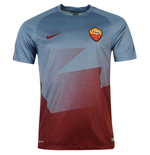 2015-2016 AS Roma Nike Pre-Match Training Jersey (Ocean Fog)