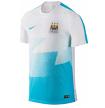 2015-2016 Man City Nike Pre-Match Training Shirt (White)